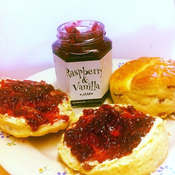 ... fruit scones with Hawkshead Relish Raspberry & Vanilla jam! #lush