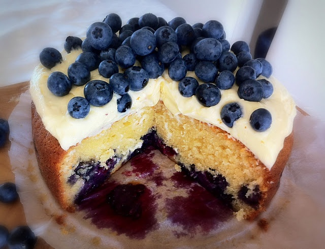 Blueberry Sour Cream Cake | Sweets | Pinterest
