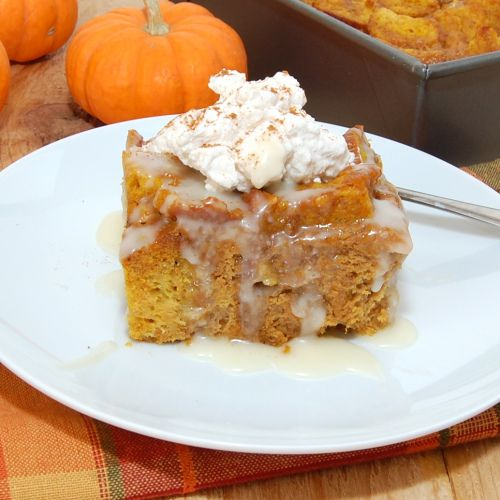 Rum Raisin Pumpkin Bread Pudding | Recipe