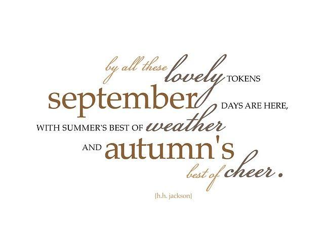 September Cheer, H.H.Jackson