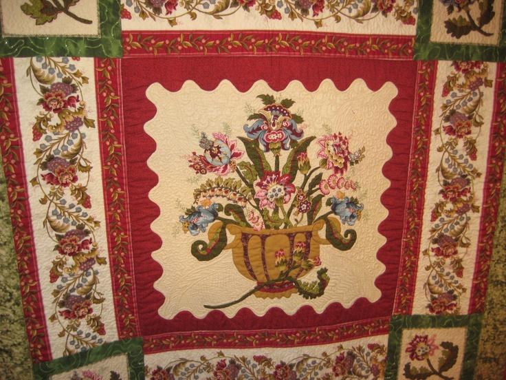 Detail of My Flower Medallion quilt