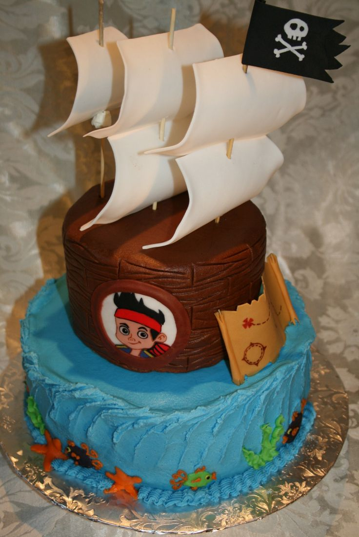 jake and the neverland pirates tiered cake - photo #2