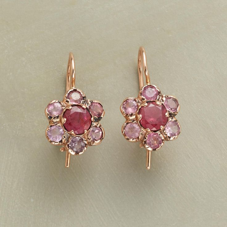 precious pink earrings in these unique pink tourmaline earrings