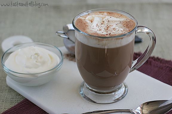 Salted Caramel Hot Chocolate...I must try this and see how it compares ...
