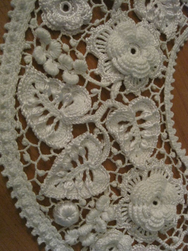 Irish crochet lace Crocheting Pinterest