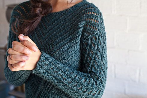 Minnette Pullover - Knitting Daily knitting Pinterest