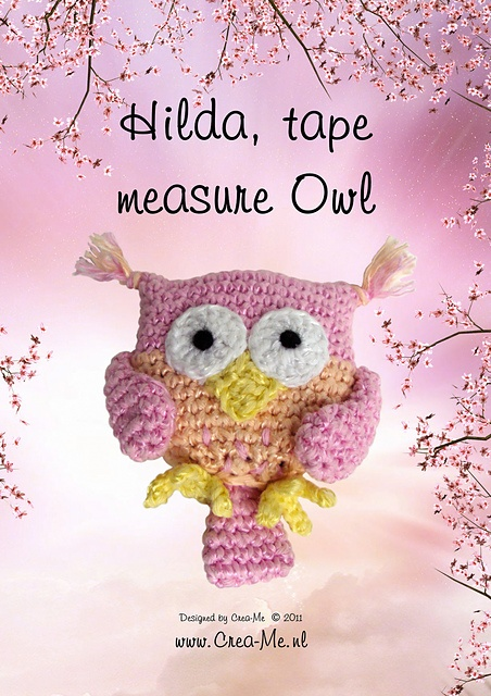 Owl tape measure pattern crochet