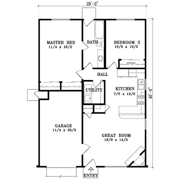 Small house home sweet future home pinterest 2 car garage square footage