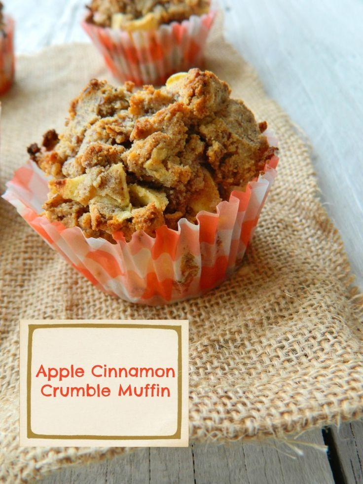 apple cinnamon crumble muffin | Healthier options | Pinterest