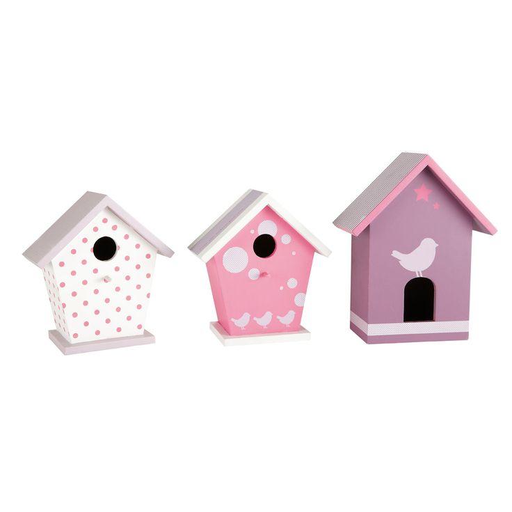 Chambre Petite Fille Chic :  de 3 nichoirs Sweety  DIY nursery  déco chambre des jumell
