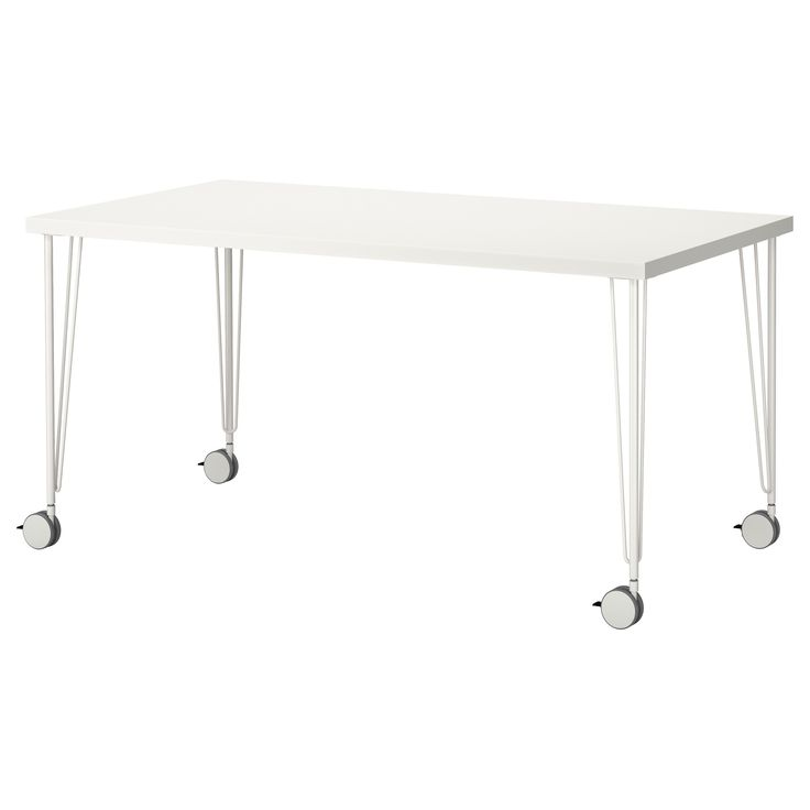 Linnmon krille table blanc - Table blanc laque ikea ...