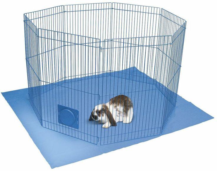 Pet playpen guinea pig rabbit cage plastic mat small for Diy playpen for guinea pigs
