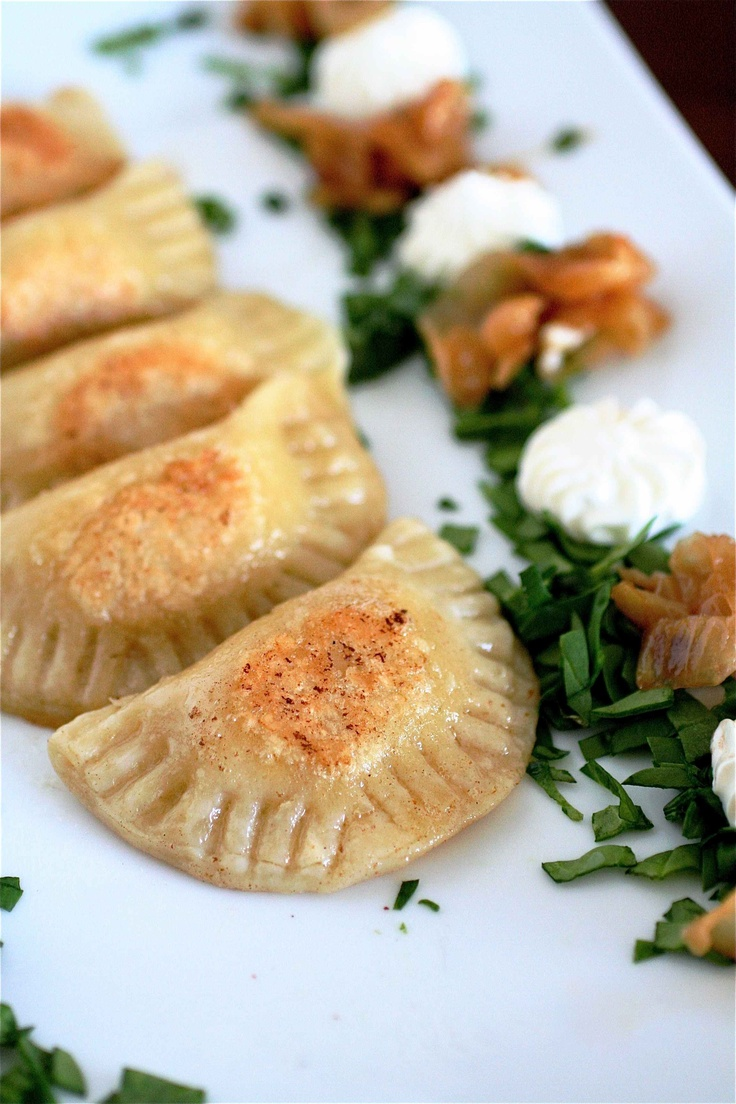 PIEROGIES!!! mmmm...going to try this =] tastes super good steamed fyi