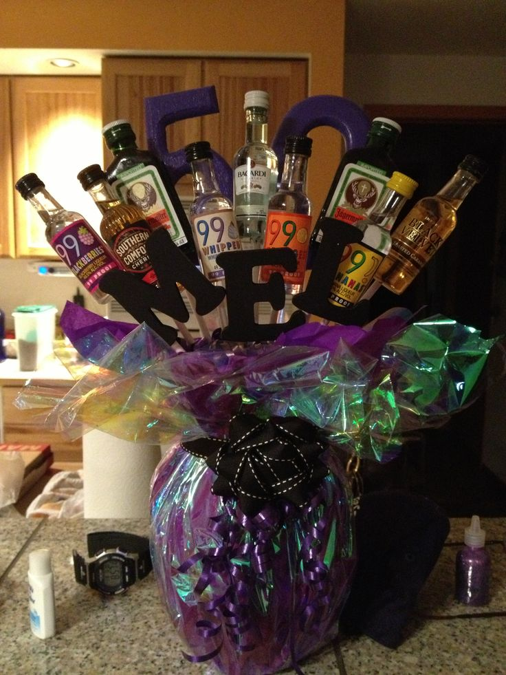 50th Birthday Alcohol Bouquet Party Ideas Pinterest