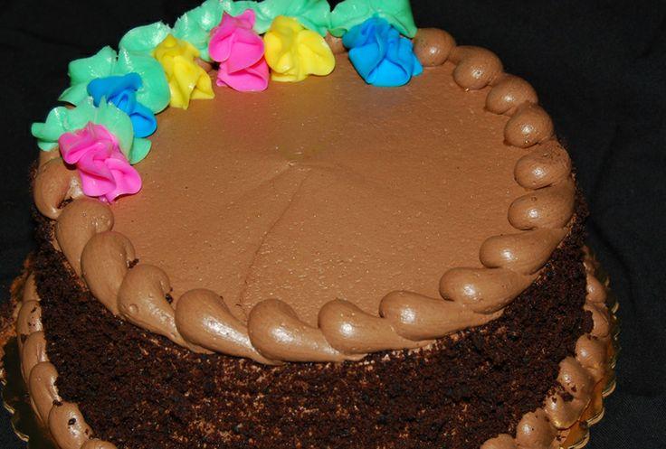 Chocolate buttercream birthday cake  Store Cakes  Pinterest