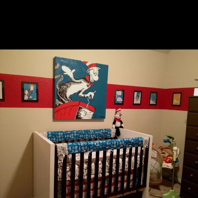 Pin by jennifer cason woodall on nursery ideas with dr for Cat in the hat bedroom ideas