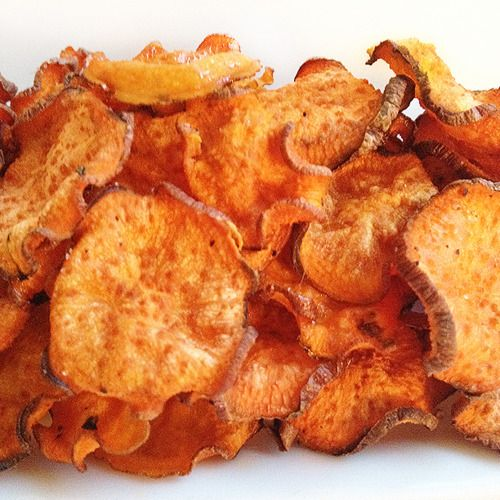 BAKED SWEET POTATO CHIPS | Things worth knowing | Pinterest