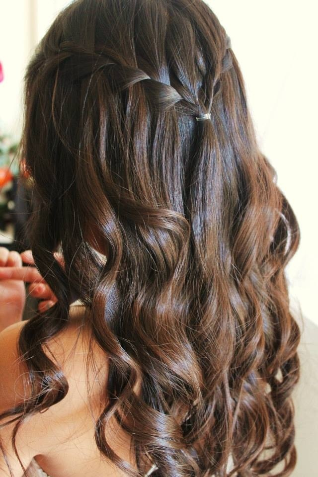 Waterfall Braid Curls Hair Pinterest