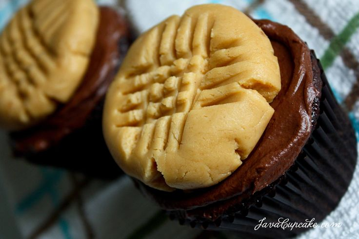 ... Chocolate Ganache garnished with Peanut Butter Cookie Frosting! by