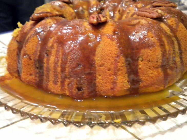 Sweet Potato Buttermilk Bundt Cake with Brown Sugar Bourbon Glaze