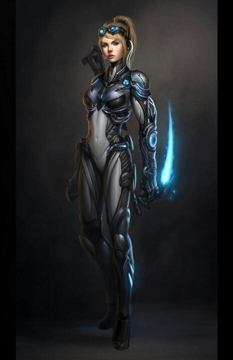 futuristic women females -#main