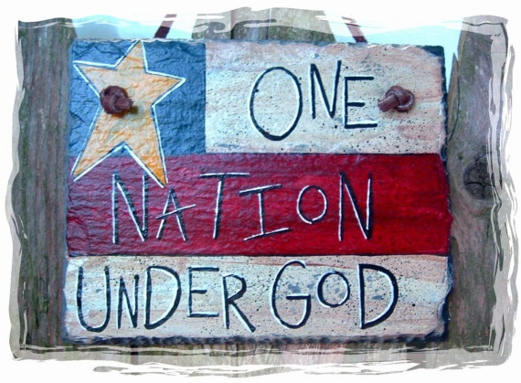 One Nation Under God - Hand Painted Decorative Slate, by pipberrytree on etsy