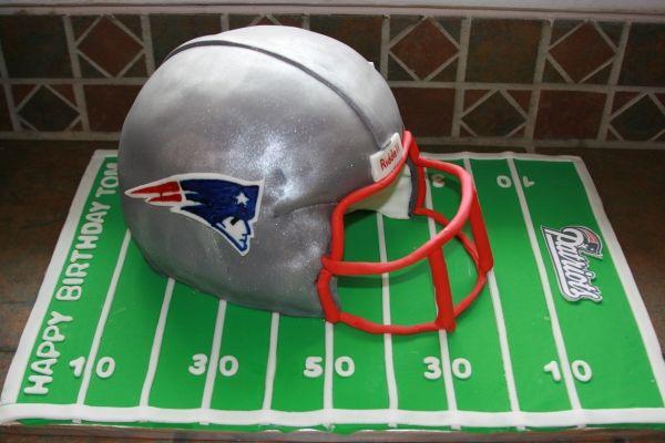 patriots helmet cake