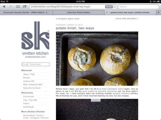 ... kitchen: http://smittenkitchen.com/blog/2012/03/potato-knish-two-ways