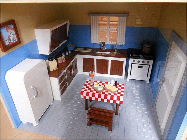 Lego kitchen lego pinterest - Lego house interior ...