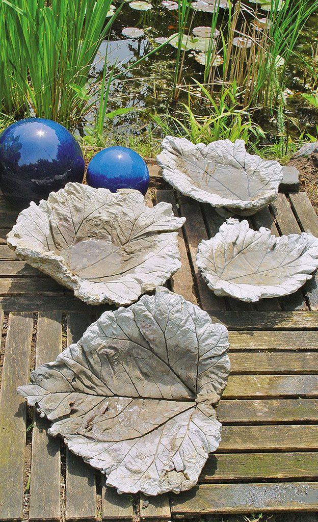 Листья из бетона для сада своими руками 52
