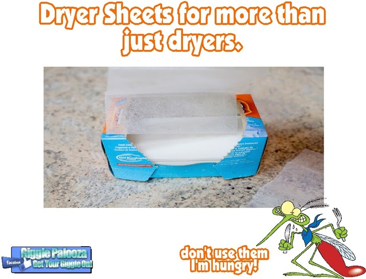 Dryer Sheets Keep Mosquitoes Away With Dryer Sheets