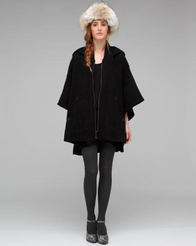 I like the pancho-jacket-coat look with a dress/skirt.