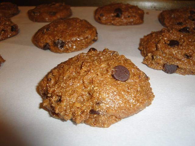 Vegan Almond Butter Chocolate Chip Cookies (will use 1.5 cups of ww ...