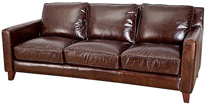 Preston Leather Sofa Urban Barn T H E H O M E
