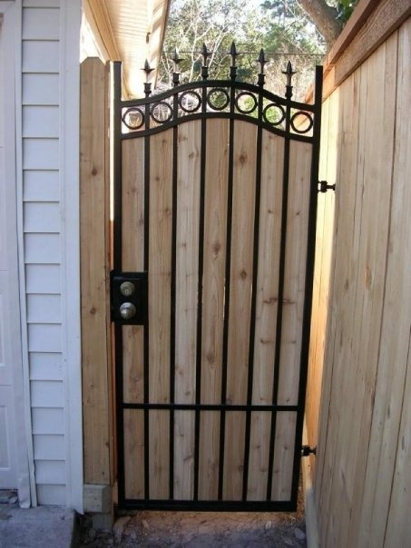Iron and wood gate dream home pinterest