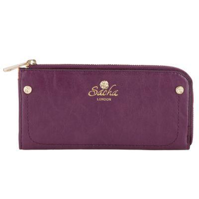 Purple large zip around purse at debenhams