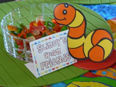 Can't forget gummy worms-Slimey!