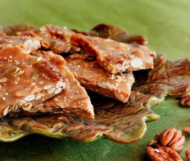 Spicy Pumpkin Seed Pecan Brittle | Sweets | Pinterest