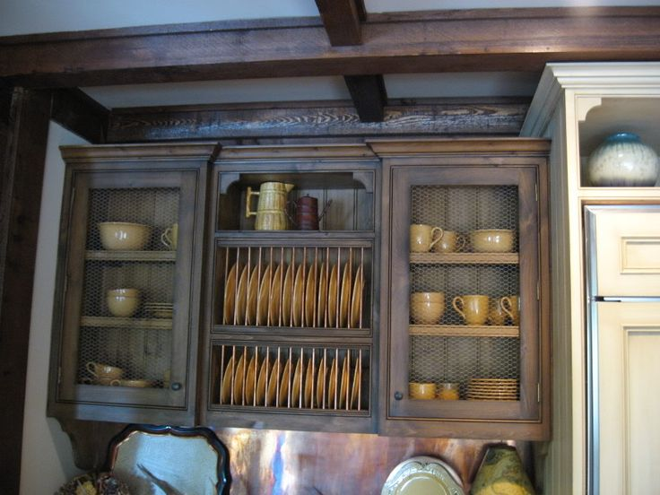 chicken wire cabinets kitchen ideas pinterest