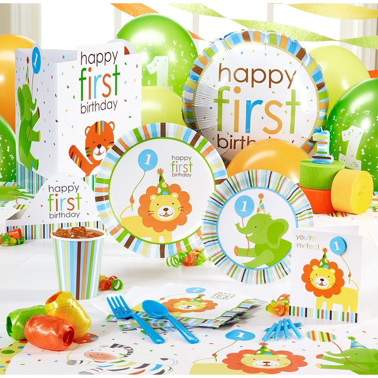 Sweet Safari Blue 1st Birthday  Party  Pinterest