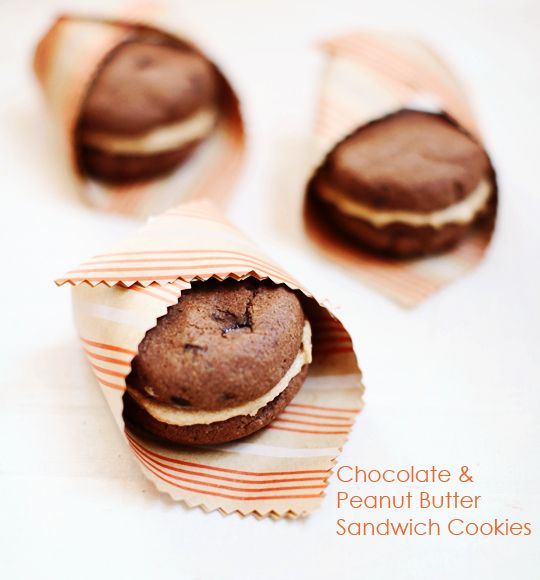 chOcOlate peanut butter sandwich cOOkies | Food Love | Pinterest
