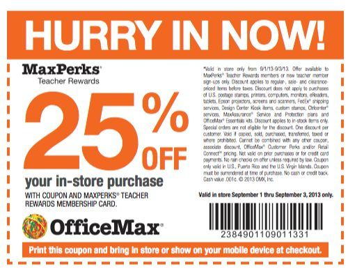 Office max discount coupons