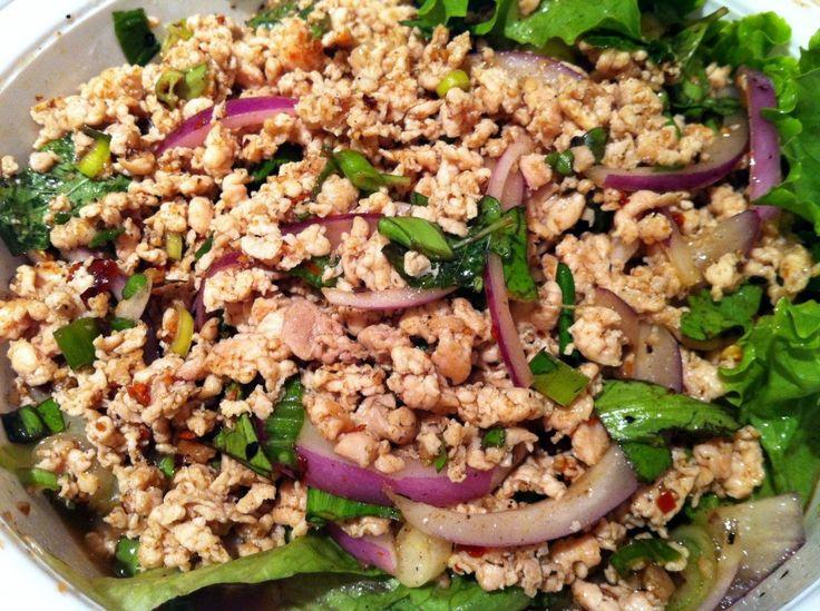 Thai Chicken Larb Recipe — Dishmaps