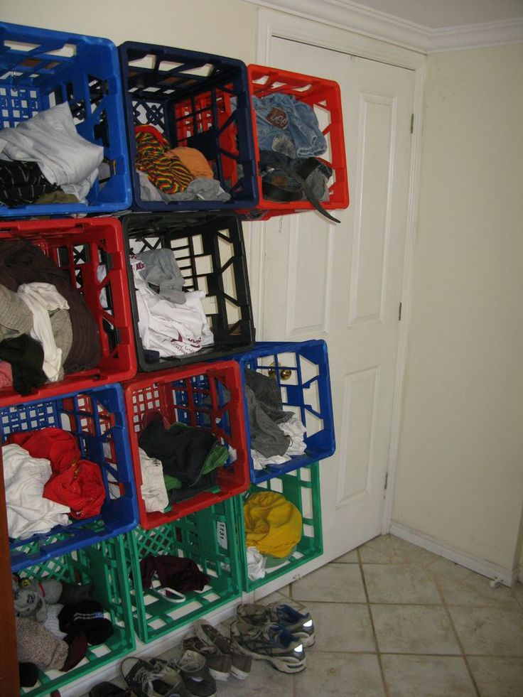 Milk crate clothing storage art studio ideas pinterest Cheap clothes storage ideas