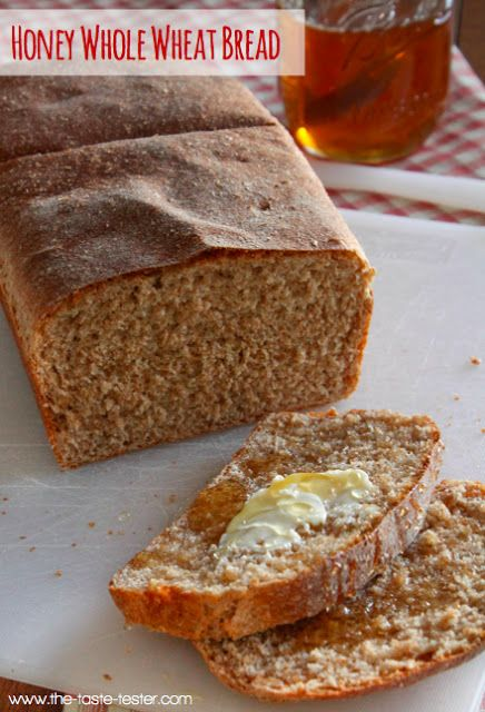 Light and Fluffy 100% Whole Wheat Bread www.the-taste-tester.com # ...