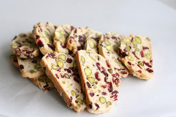 Cranberry and Pistachio Biscotti | Cafe Food | Pinterest