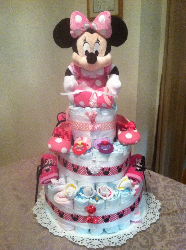 minnie mouse diaper cake minnie mouse baby shower pinterest