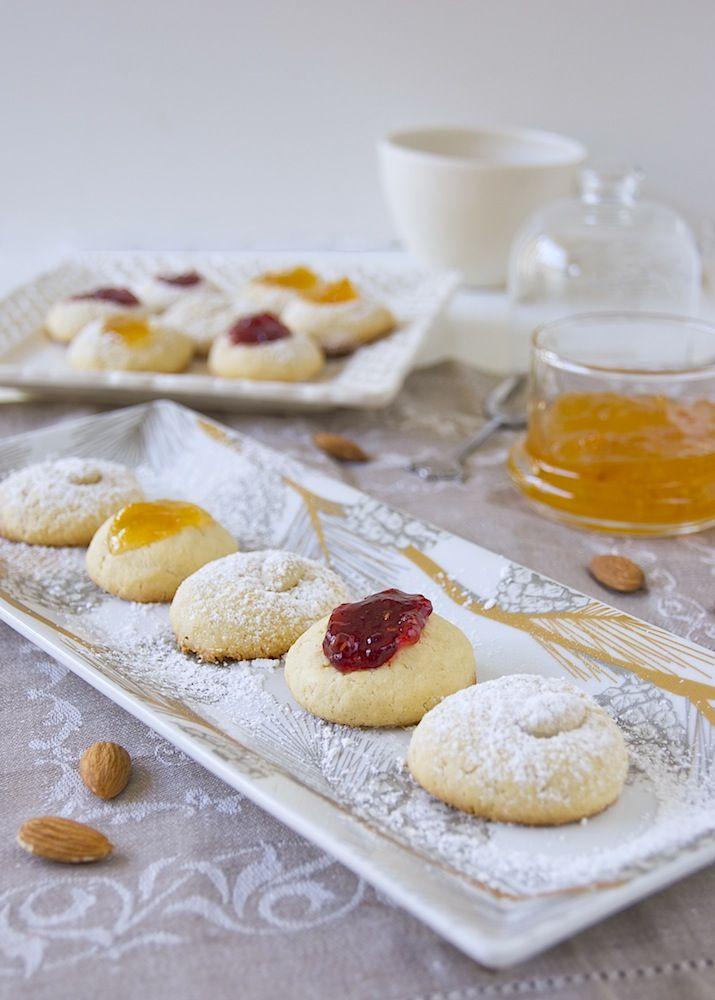 almond thumbprint cookies | Sweet Treats: Cookies | Pinterest