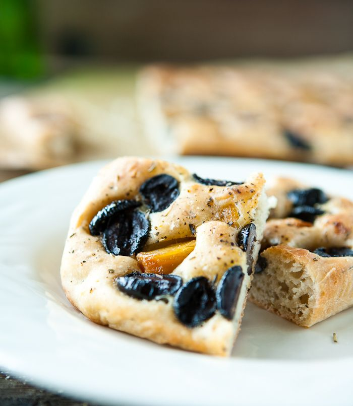 Roasted Garlic and Olive Focaccia by EclecticRecipes.com #recipe ...
