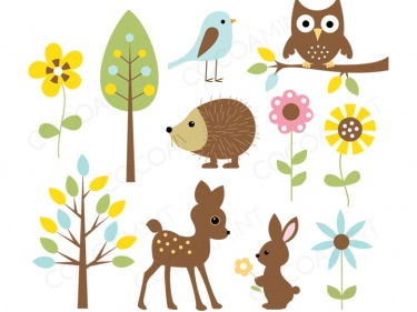 Baby forest animals clipart - photo#7
